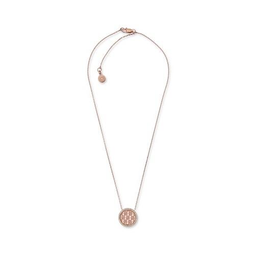 Michael-Kors Logo Rose Gold-Tone Pendant Necklace Mkj5372791 Jewelry - MKJ53..