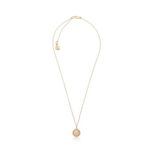 Michael-Kors Mk Monogram Necklace With Mop Mkj5636710 Jewelry - MKJ5636710-WSI