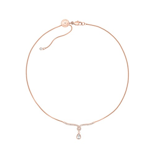 Michael-Kors Michael Kors Brilliance Rose Gold-Tone Necklace Mkj7120791 Jewe..