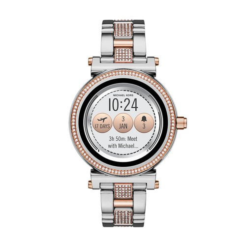 Michael-Kors Refurbished Michael Kors Access Sofie Two-Tone And Pavé Touchsc..