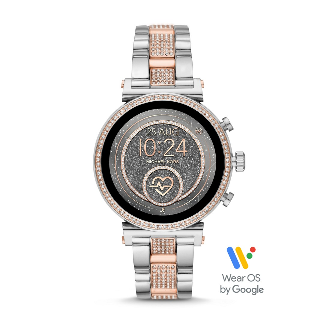 Michael Kors Refurbished Michael Kors Access Sofie Heart Rate Touchscreen Smartwatch - Pavé Two-Tone Mkt5064j Jewelry - MKT5064J-WSI