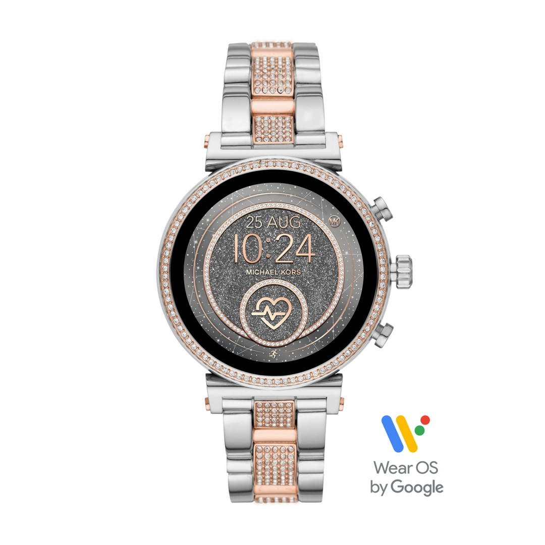 Michael Kors Michael Kors Access Sofie Heart Rate Touchscreen Smartwatch - Pavé Two-Tone Mkt5064 Jewelry - MKT5064-WSI
