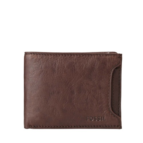 Fossil Ingram Sliding 2 In 1 Wallet Ml3288200 Color: Brown Wallet