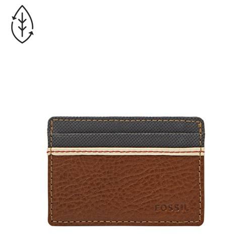 Fossil Elgin Id Card Case Front Pocket Wallet Ml3311200 Color: Brown Wallet