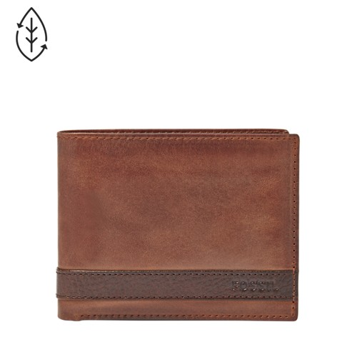 Fossil Quinn L-Zip Bifold Ml3652200 Color: Brown Wallet