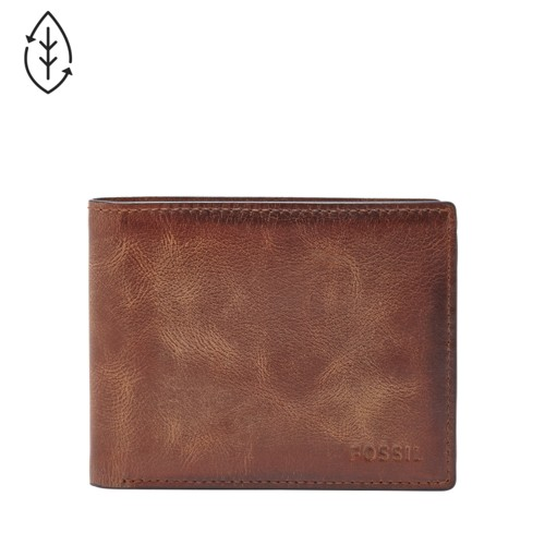 Fossil Derrick Rfid Flip Id Bifold Ml3681200 Wallet