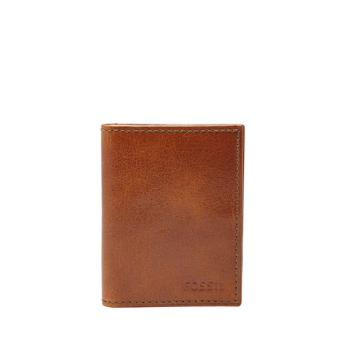 Fossil Conner Card Case Bifold Ml3697222 Color: Cognac Wallet