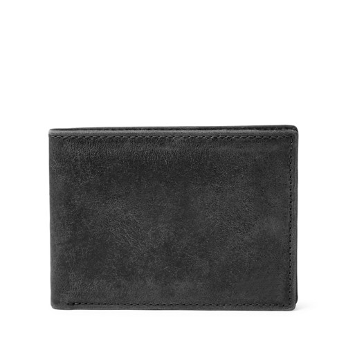 Fossil Anderson Front Pocket Bifold Ml3710b001 Color: Black Wallet