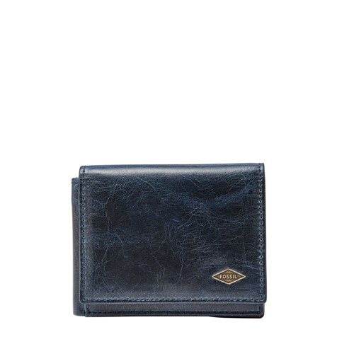 Fossil Ryan Rfid Execufold Ml3733400 Color: Navy Wallet