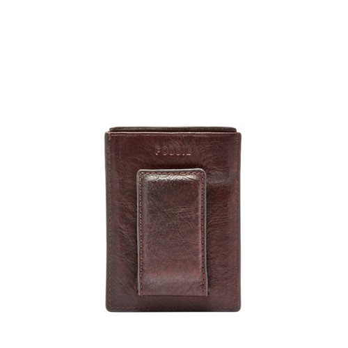 Fossil Ingram Rfid Magnetic Card Case Ml3782200 Color: Brown Wallet