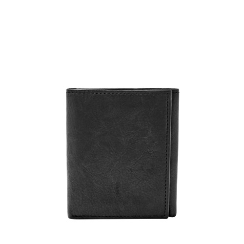 Fossil Ingram Rfid Trifold Ml3785001 Color: Black Wallet