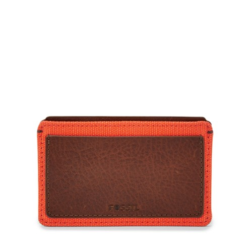 Fossil Defender Card Case Ml3796b800 Color: Orange Wallet
