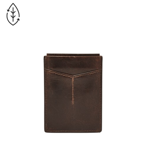 Fossil Derrick Rfid Magnetic Card Case Ml3812201 Color: Dark Brown Wallet