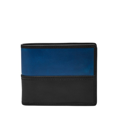 Fossil Tate Rfid Large Coin Pocket Bifold Ml3846001 Wallet