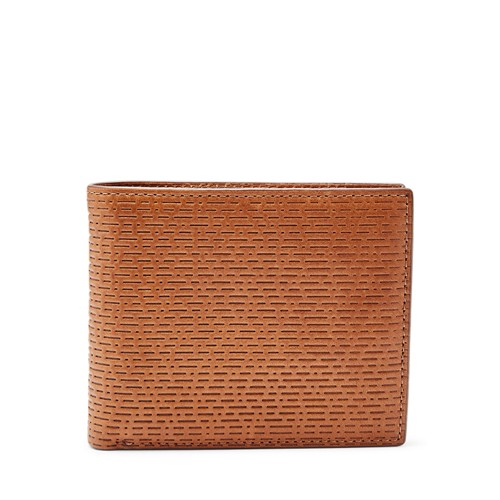 Fossil Coby Rfid Large Coin Pocket Bifold Ml3915222 Color: Cognac Wallet