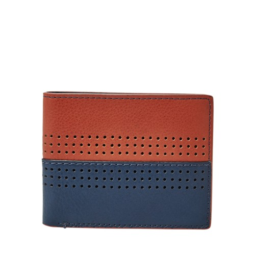 Fossil Cody Rfid Flip Id Bifold Ml3940400 Color: Navy Wallet