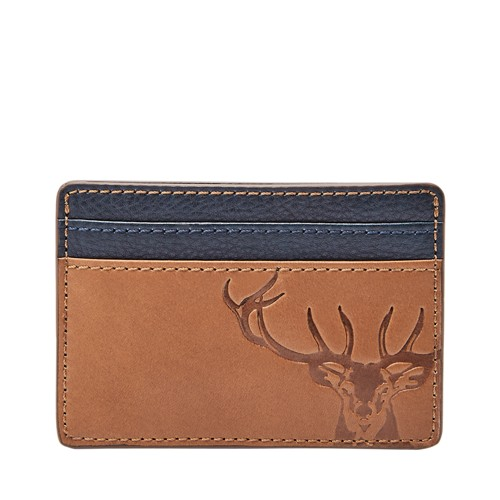 Fossil Andy Card Case Ml3966222 Color: Cognac Wallet