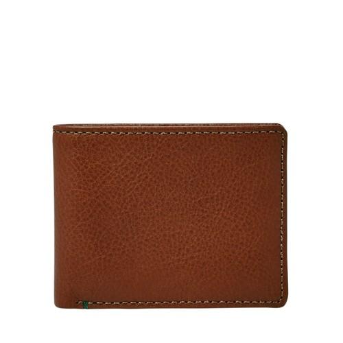 Fossil Gavin Rfid Bifold Ml3971222 Color: Cognac Wallet