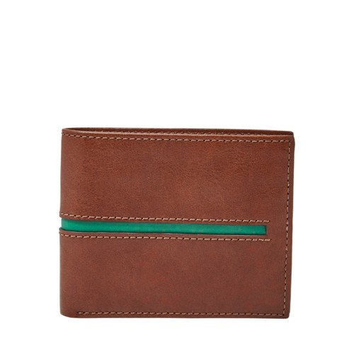 Fossil James Rfid Flip Id Bifold Ml3973222 Color: Cognac Wallet