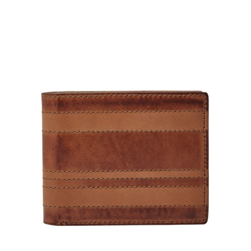 Fossil Daniel Rfid Flip Id Bifold Ml3978200 Color: Brown Wallet