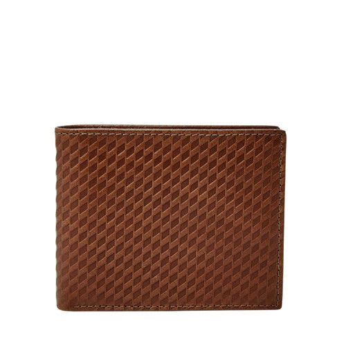 Fossil Jace Rfid Flip Id Bifold Ml3983200 Color: Brown Wallet