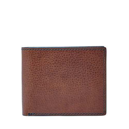 Fossil Richard Rfid Flip Id Bifold Ml3990200 Color: Brown Wallet