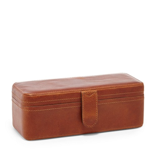 Fossil Leather Watch Box Fossil 4-piece Watch Box