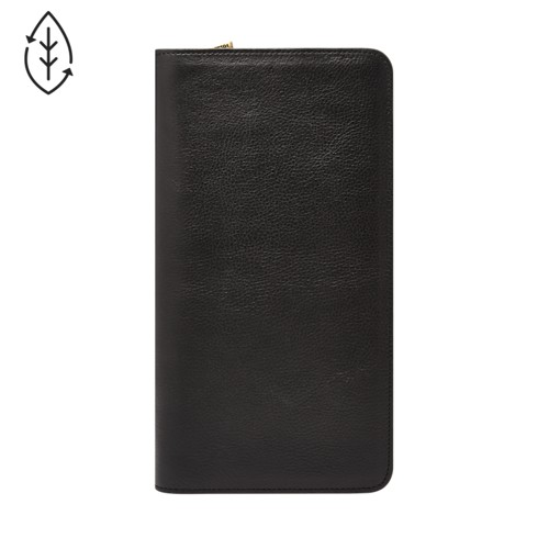 Fossil Multi-Zip Passport Case  Accessory Black