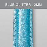 12mm Light Blue Glitter Fashion Patent