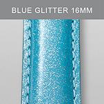 16mm Light Blue Glitter Fashion Patent