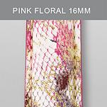16mm Pink Floral Fashion Patent Leather
