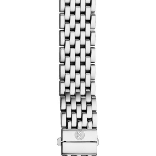 Michele 16Mm Urban Mini 7-Link Stainless Steel Bracelet With Diamonds Ms16dl235009