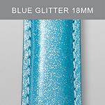 18mm Light Blue Glitter Fashion Patent