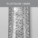 18mm Platinum Fashion Leather