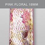 18mm Pink Floral Fashion Patent Leather