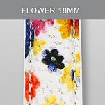 18mm Flower Fashion Patent Leather