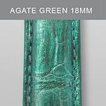 18mm Agate Green Fashion Alligator