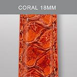 18mm Coral Exotic Leather
