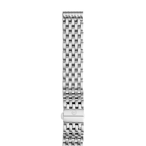 Michele 18 Mm Deco 7-Link Stainless Steel Bracelet Ms18au235009