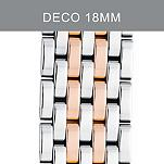 18mm Deco Rose Gold Two-Tone Bracelet
