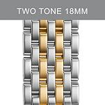18mm Caber Two Tone Gold Stainless Steel Bracelet
