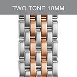18mm Caber Two Tone Rose Gold Stainless Steel Bracelet