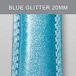20mm Light Blue Glitter Fashion Patent