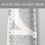 20mm White & Silver Fashion Patent