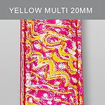 20mm Yellow Multi Fashion Patent