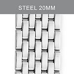 20mm Deco XL Stainless Steel Bracelet