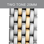 20 mm Deco XL Two Tone Gold Steel Bracelet