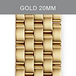 20mm Sport Sail 5 Link Gold Bracelet