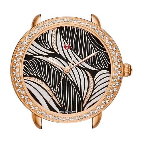 Michele Serein Mid Diamond Rose Gold, Willow Diamond Dial Mw21b01b4091 Black