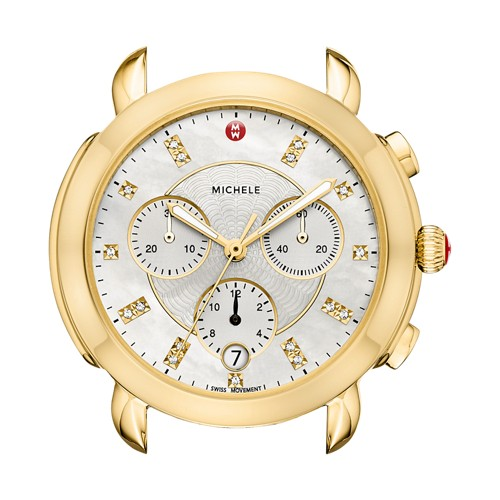 Michele Sidney Gold Diamond Dial Mw30a00a9046 White